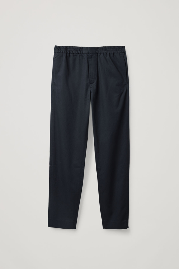 Cos Lightweight Elasticated Pants In Blue