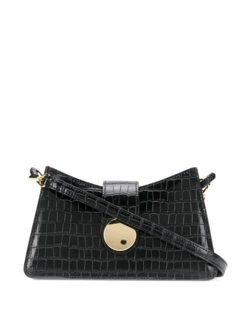 Elleme Malette Black Leather Cross-body Bag