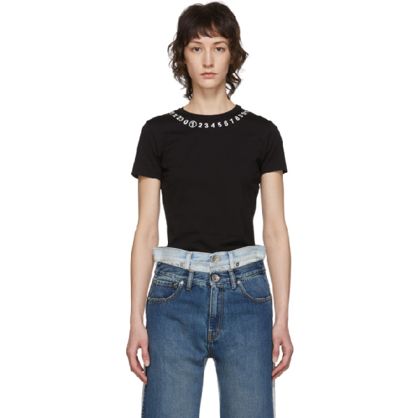 Maison Margiela T-shirt S/s Crew Neck Cotton Jersey In Black