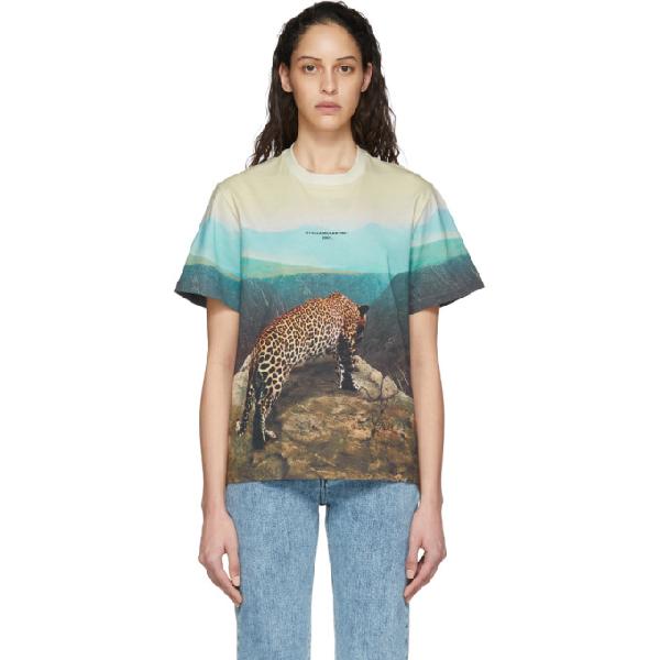 Stella Mccartney Graphic Leopard Print T-shirt In 8490 Multic