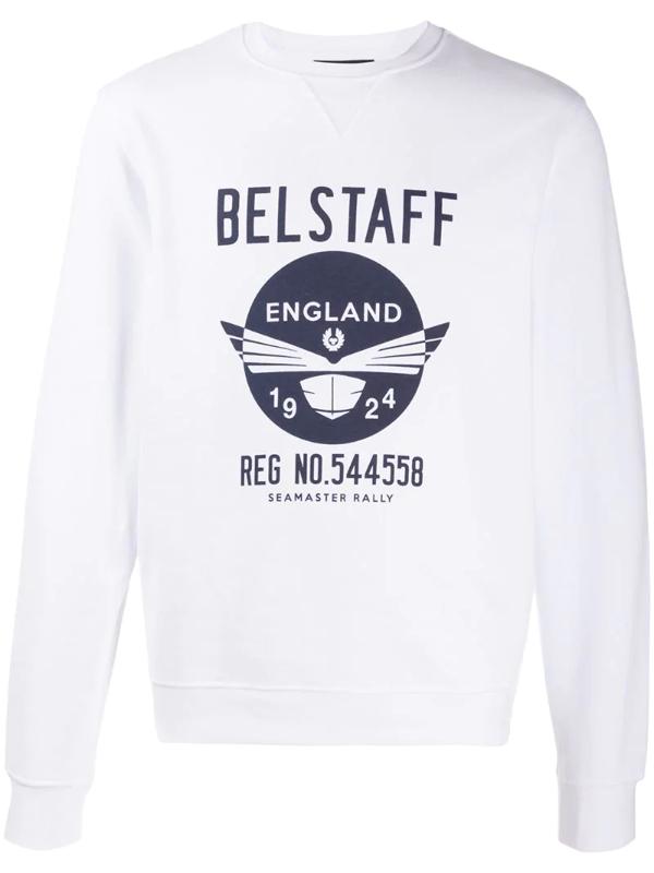 Belstaff Seamasters Cotton Sweatshirt In White