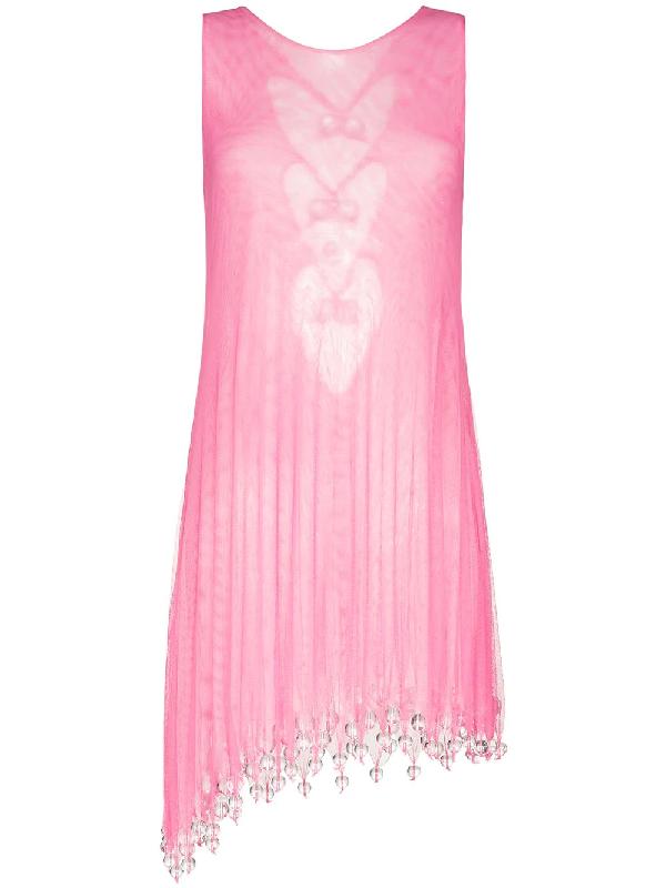Susan Fang Minikleid Mit Perlen In Pink