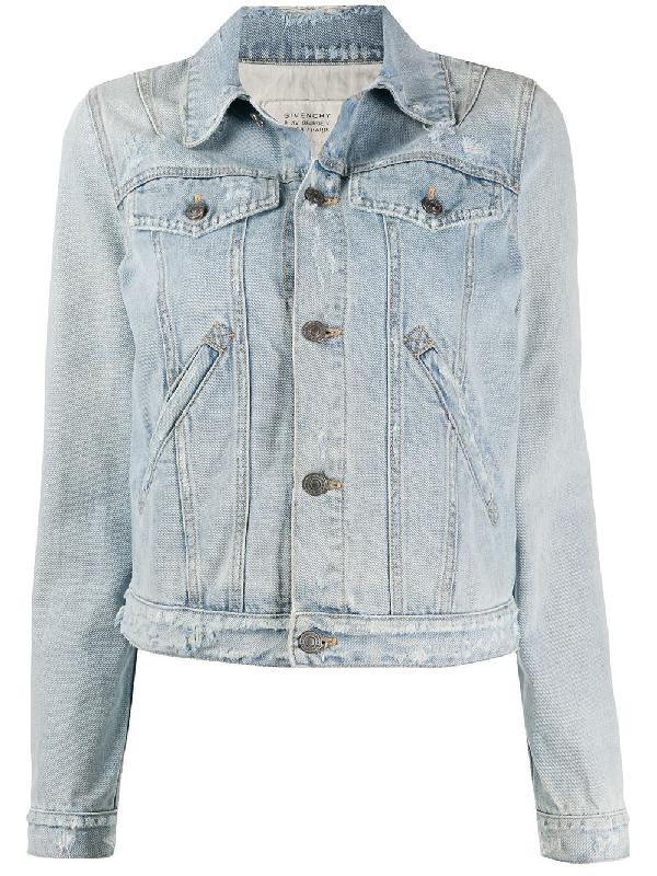 Givenchy Light Blue Cotton Denim Jacket In 452 Denim
