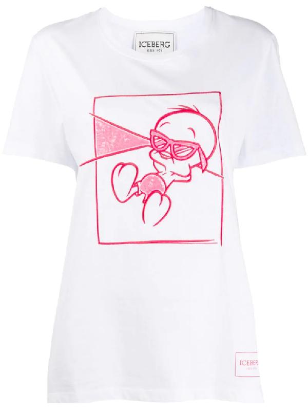 Iceberg White Cotton T-shirt