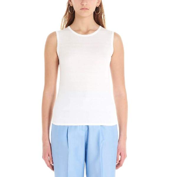Agnona White Cotton Top
