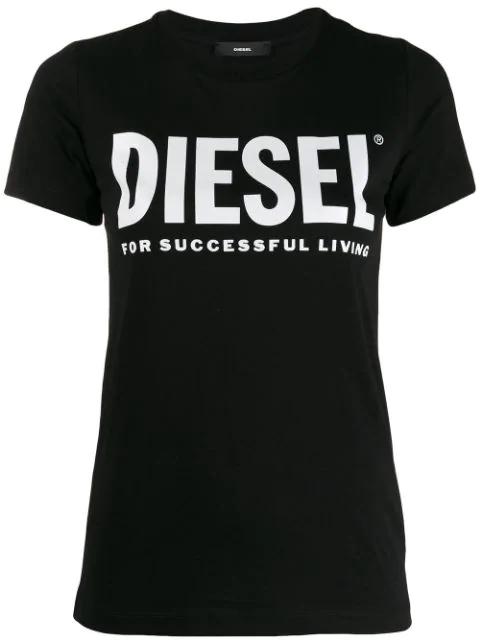 Diesel Short-sleeved T-shirt With Logo In Black