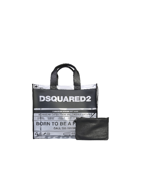 Dsquared2 Logo Tote Bag In Black