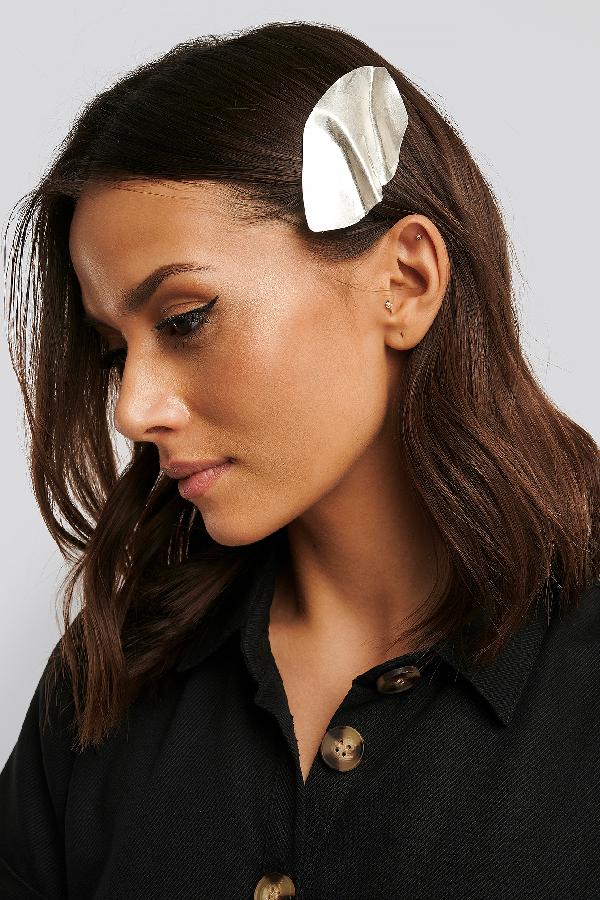 Na-kd Bended Metal Hair Clip Silver