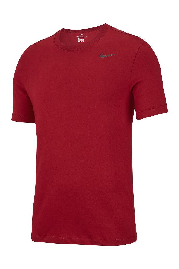 Nike Men's Dri-fit Training T-shirt In 677 Team Red/black