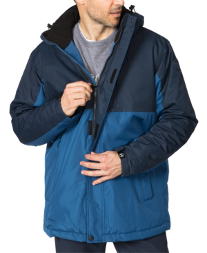 Hawke & Co. Outfitter Men's Big & Tall Colorblocked Parka In Blueprint/hawke Navy