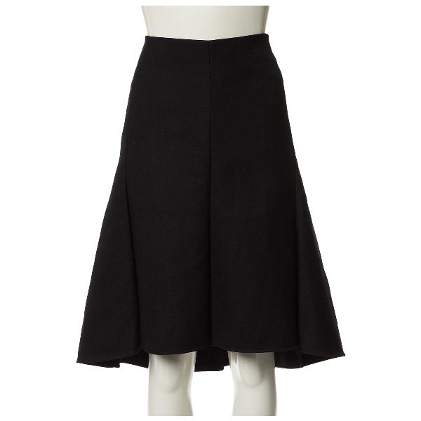 Celine Black Wool Skirt