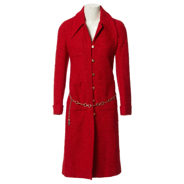 Gucci Red Cotton Coat