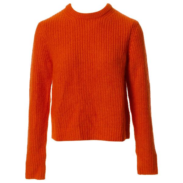 Calvin Klein 205w39nyc Orange Cashmere Knitwear