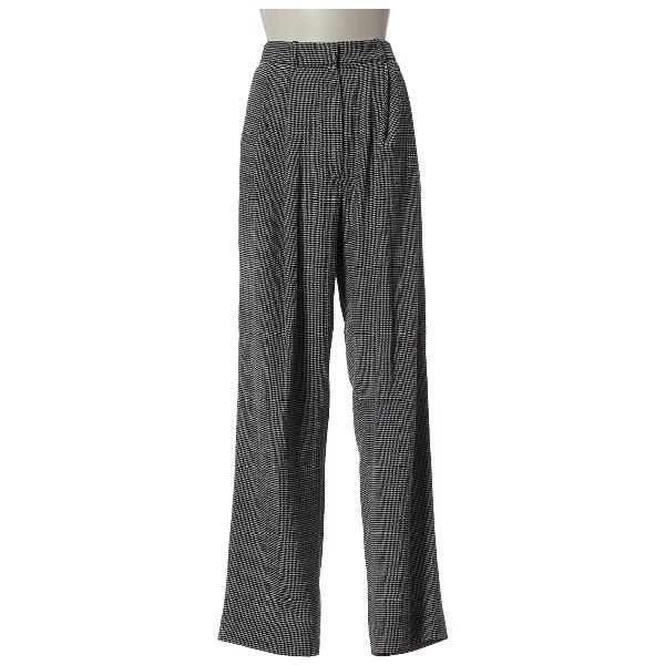 Celine Black Silk Trousers
