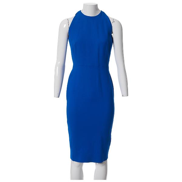 Victoria Beckham Blue Silk Dress