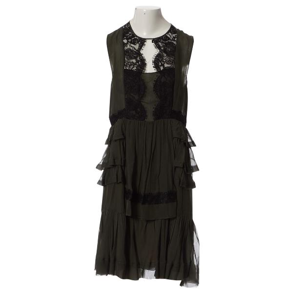 Emilio Pucci Khaki Silk Dress