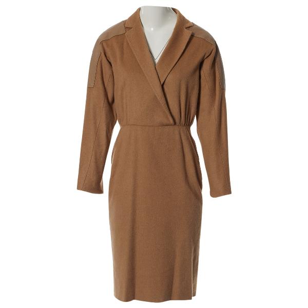 Max Mara Beige Wool Dress