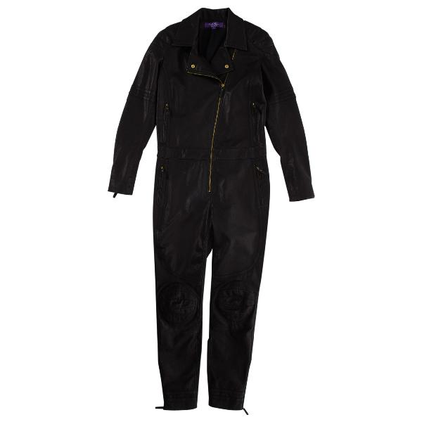 Ralph Lauren Black Leather Jumpsuit