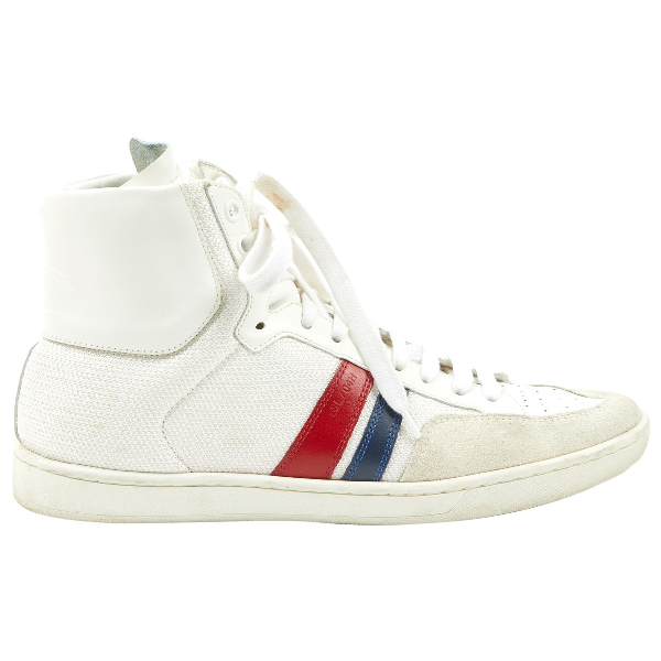 Saint Laurent Bedford White Leather Trainers