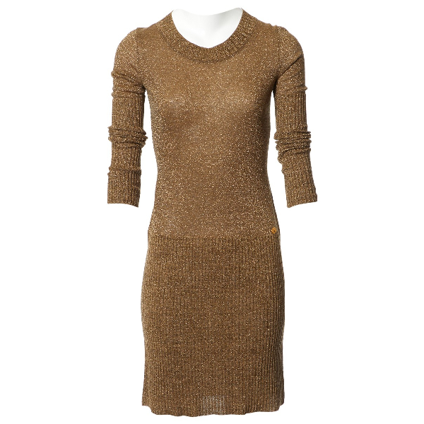 Chanel Gold Wool Dress