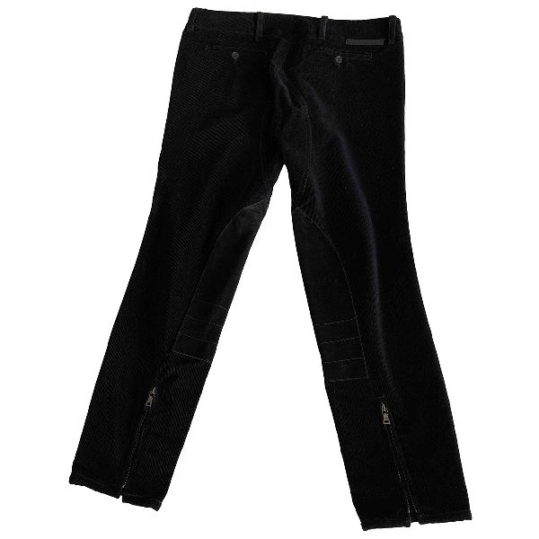 Prada Black Cotton Trousers