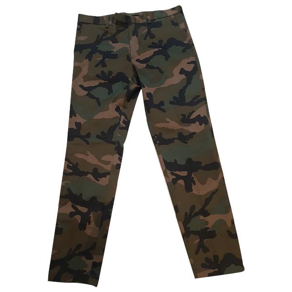 Valentino Khaki Cotton Trousers