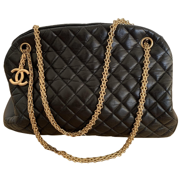 Chanel Mademoiselle Black Leather Handbag