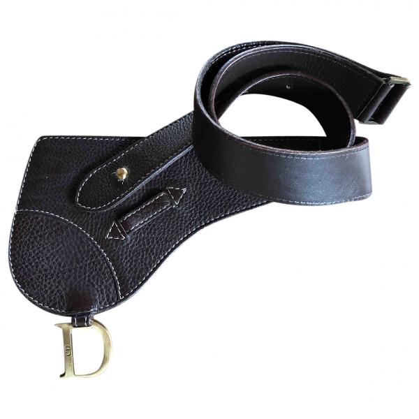 Dior Brown Leather Belt