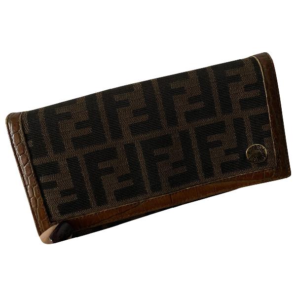 Fendi Brown Cloth Wallet