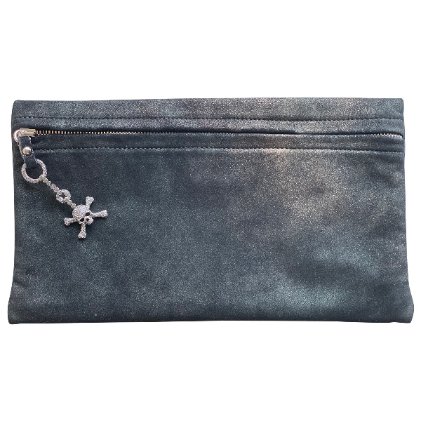 Giuseppe Zanotti Black Cloth Clutch Bag