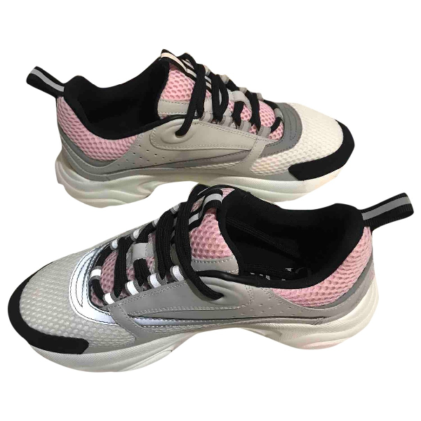 Dior Pink Cloth Trainers