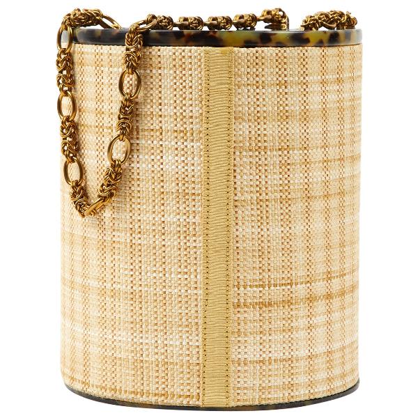 Rebecca De Ravenel Beige Cloth Handbag