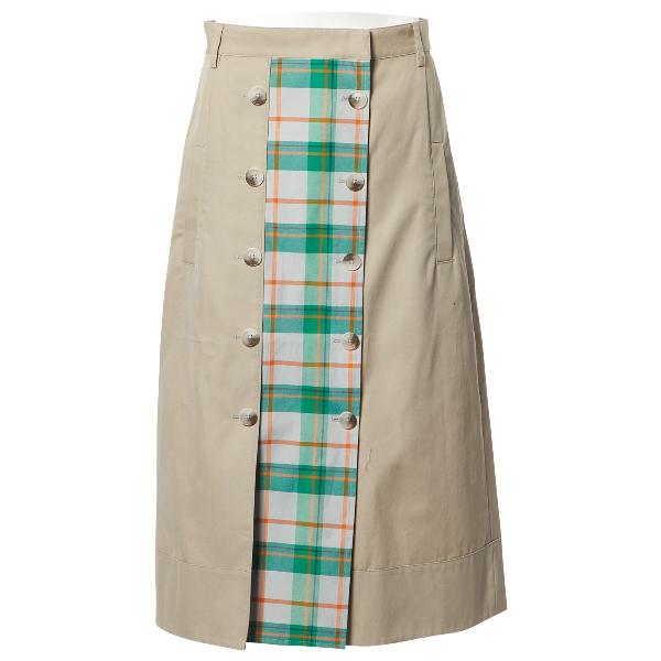 Tibi Beige Cotton Skirt