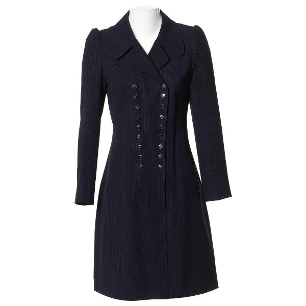 Magda Butrym Navy Silk Dress