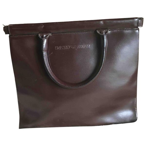 Emporio Armani Brown Leather Handbag