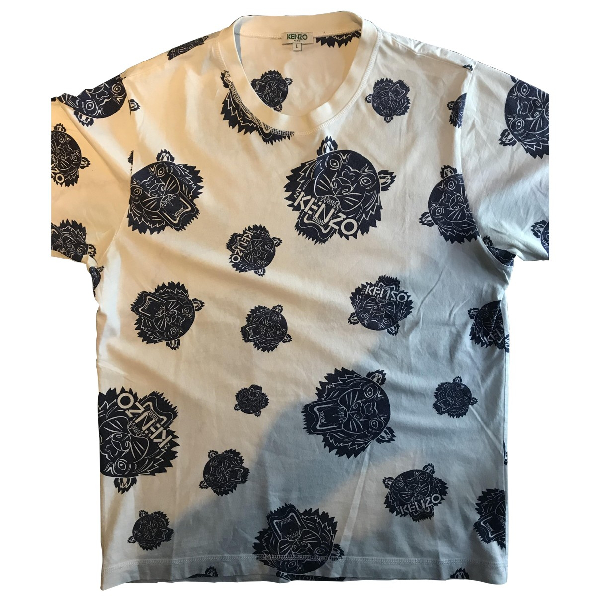 Kenzo White Cotton T-shirts