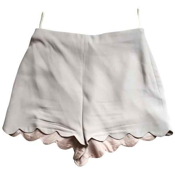 Valentino Pink Silk Shorts