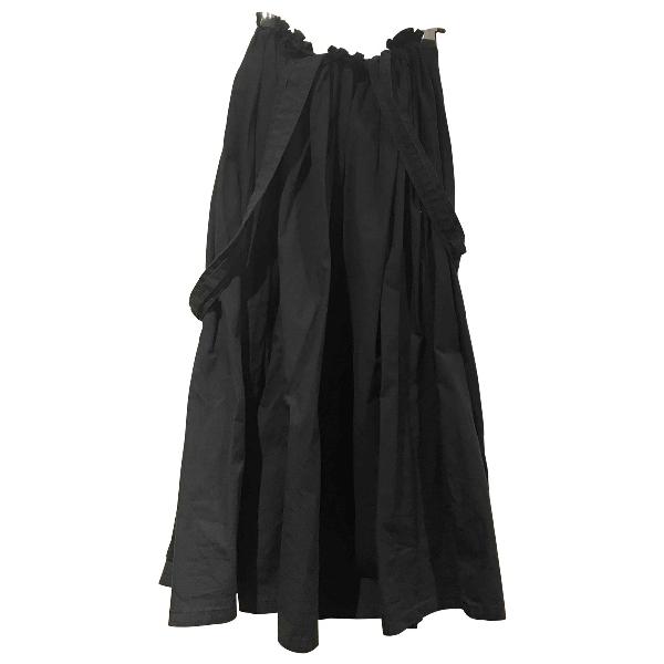 Yohji Yamamoto Black Cotton Skirt