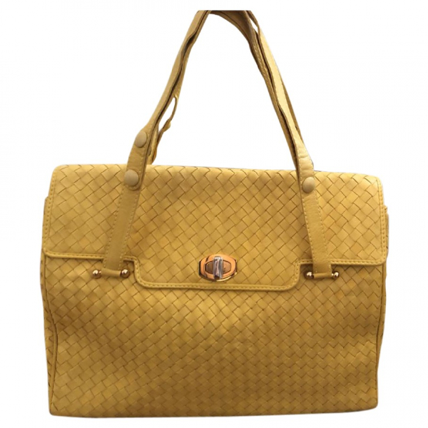 Charles Jourdan Yellow Leather Handbag