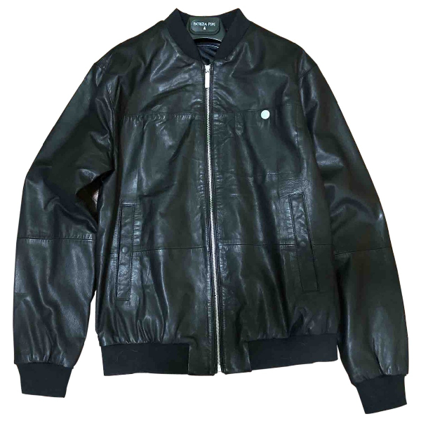 Versace Jeans Black Leather Jacket