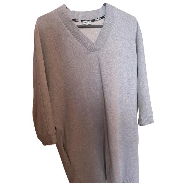 Kenzo Grey Cotton Dress
