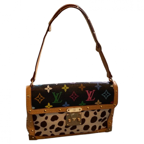 Louis Vuitton Dalmatian  Black Pony-style Calfskin Handbag