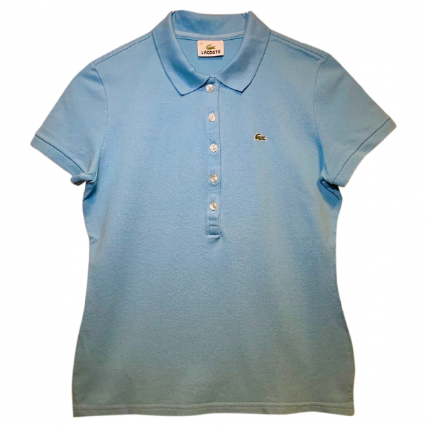 Lacoste Turquoise Cotton  Top