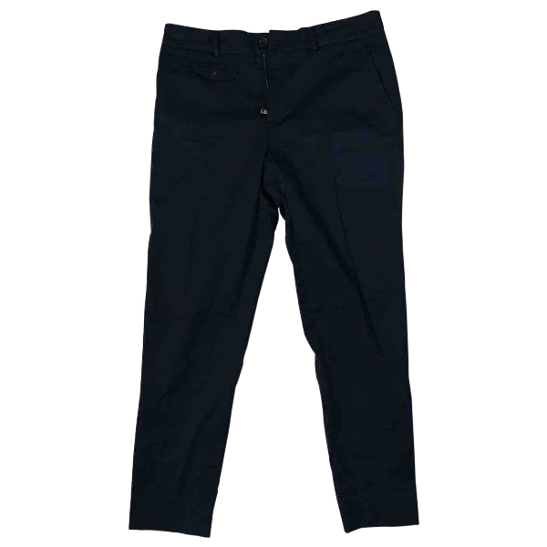 Gucci Navy Cotton Trousers