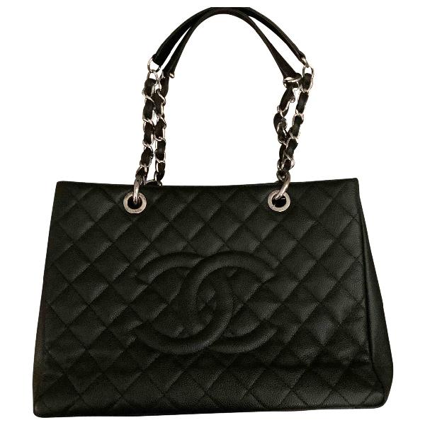 Chanel Grand Shopping Black Leather Handbag