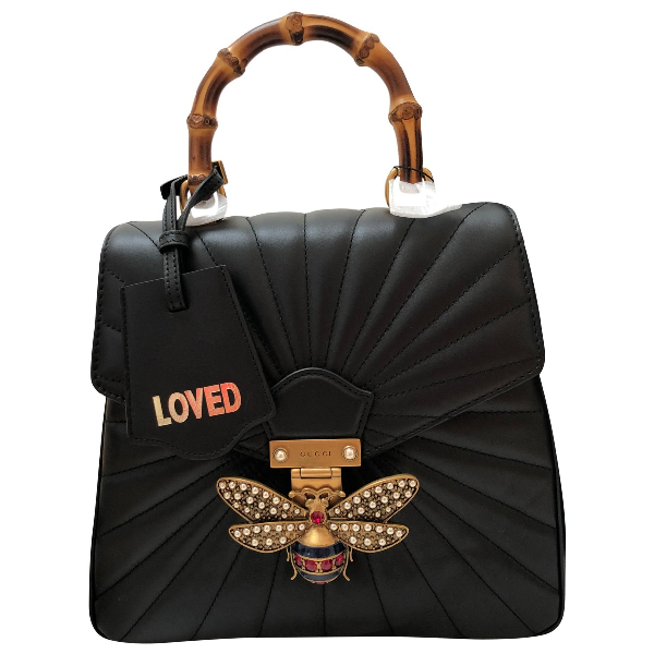 Gucci Queen Margaret Black Leather Backpack