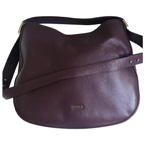 Furla Burgundy Leather Handbag