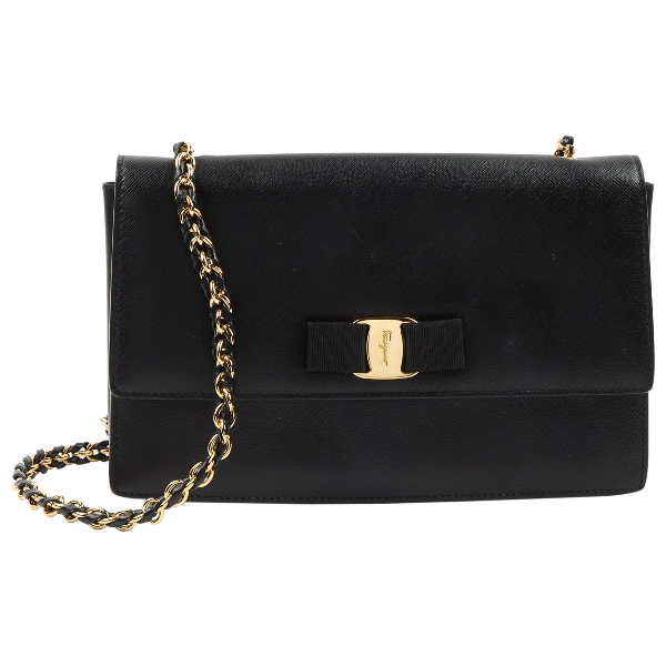 Salvatore Ferragamo Black Leather Handbag