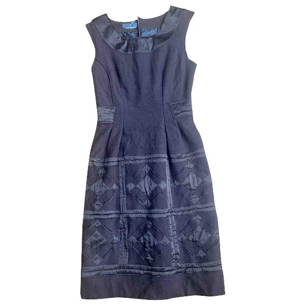 Alberta Ferretti Brown Wool Dress