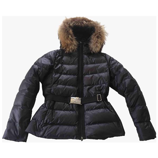 Moncler Fur Hood Black Raccoon Coat